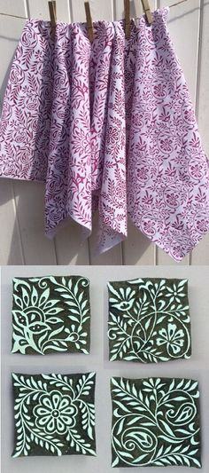 Print your own Napkins for yourself, or to give as a fabulous present! We printed our own using 4 ethnic floral repeats, which are all on special offer for only £8.00 each! Use our fabric paint which you just need to heat seal to set.