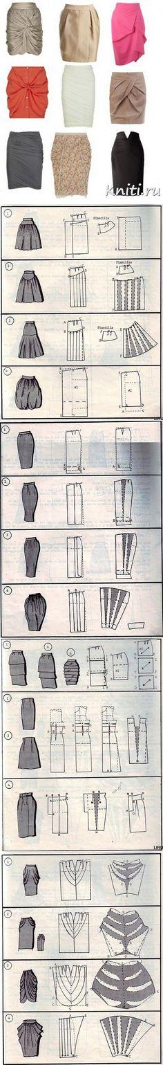 Выкройки юбок + видео как шить юбку за 15 минут. – Мир вязания и рукоделия