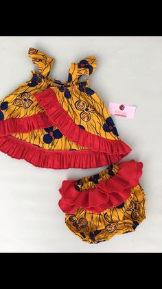 African print for kids. Baby African Clothes, African Dresses For Kids, African Babies, African Print Clothing, African Children, African Print Dresses, African Print Fashion, African Fashion Dresses, African Wear