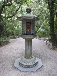 Japanese lantern near Ganjin's grave by rangaku1976  Toshodaiji, Nara