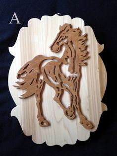 Horse Plaque by DJWoodandBeads on Etsy