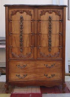 Best Vintage Bassett 50 S Blonde 4 Drawer Chest Dresser Chicago 640 x 480