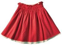 Reversible Swiss Dot Skirt to match with your bright red gestipt.com mary janes!  (or your favourite Salt Water Sandals)