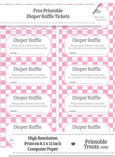 a free diaper raffle tickets printable and sign this is perfect for