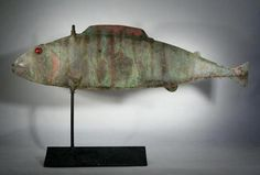 """COD FISH WEATHER VANE"" (Dated 1990) by GARY BIRCH (Ohio, b. 1946) > Folk Art"