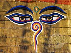 The eyes on the Buddhist stupa of Swayambhu Swayambhunath Monkey Temple... I will have this tattoo