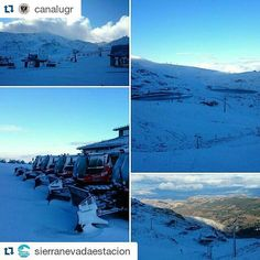 Preciosas imágenes de #SierraNevada. Ya queda menos para que comience la temporada de #Sky  #Repost @canalugr  Porque la #UGR forma parte de una ciudad con imágenes tan espectaculares como estas.  #UniversidadDeGranada #Granada #SierraNevada