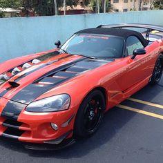 Love this paint scheme! Dodge Viper SRT VERT with coupe rear!!
