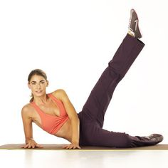 """""""This exercise works your entire leg, particularly the hard-to-tone outer-thigh area that's a problem for a lot of women,"""" -- Tracy Anderson."""