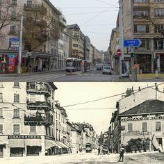 Rue de la Terrassière #terrassiere #eauxvives #genève #geneve #geneva #rephotography Street View, Instagram Posts, Living Water
