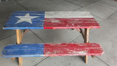 Texas picnic table!