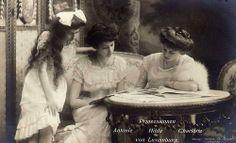 Princess Antonia, Princess Hilda, and Princess Charlotte of Luxemburg