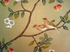 Chinoiserie Papers » Shen de Tang | Griffin & Wong | Elegance in Silk Hand Painted Wallpaper Design