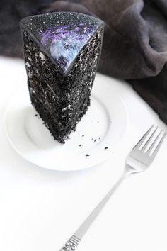 Black Velvet Galaxy Nebula Cake Recipe