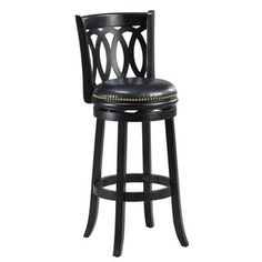 Cameron Black Spiral Back Swivel Bar Stool
