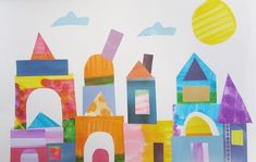 Paul Klee Castle Collage   Art is Basic   An Elementary Art Blog