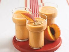 Peach Smoothie - 23 Smoothies That Aid in Weight Loss ... [ more at http://weightloss.allwomenstalk.com ] I love this smoothie recipe! It's so sweet, and it tastes like summer to me, just like the watermelon one does. With a minimum of ingredients -- milk, frozen peaches, and flaxseed oil -- it's easy to make, too. That's it! So simple and sweet, yet it's one of the best smoothies that aid in weight loss!Recipe:1 cup of skim milk 1 cup of f... #Weightloss #And #Hot #Flaxseed #Blender…