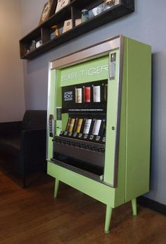 Easy Tiger is a Kansas City based stationary business that sells their cards through stylish vending machines.