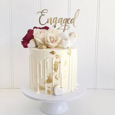 """engagement party Our """"engaged"""" cake topper is designed with a romantic heavy script font, that is modern and features a stunning swirl underneath the word. This design is based on a 6 Engagement Cake Design, Engagement Party Decorations, Engagement Cakes, Wedding Engagement, Engagement Cake Toppers, Engagement Ideas, Custom Cake Toppers, Custom Cakes, Engagement Party Planning"""
