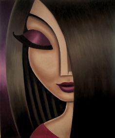 Fun, cute portrait art oil paintings of women. Urbane Kunst, Abstract Face Art, Arte Pop, Portrait Art, Female Portrait, Art Oil, Female Art, Art Pictures, Painting & Drawing