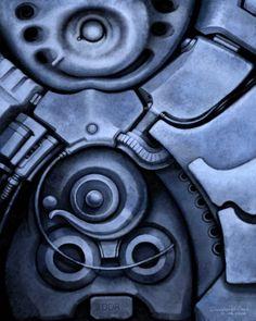 Psicomemorie A6 Bis - 2008 - © Daniele Del Rosso - #art #artist #painting #contemporaryart #visualarts #psicomemorie #illustration #surrealismart #surrealism #digitalart #danieledelrosso #blue