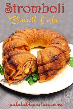 This surprisingly savory Bundt cake is not a Bundt cake at all, but a stromboli filled with meat and cheese. Stromboli Bundt Cake By Sue Lau Bundt Cake Pan, Bunt Cakes, Bundt Pans, Pound Cake, Breakfast Bundt Cake, Italian Dishes, Italian Recipes, Stromboli Recipe, Stromboli Pizza