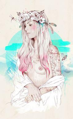Gioconda by Ariana Perez, via Behance