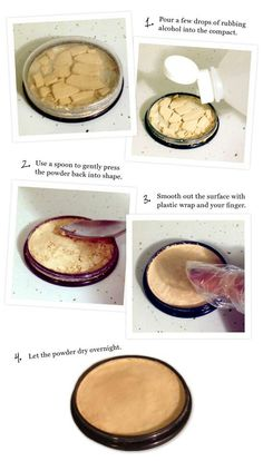 DIY tip for all those broken eyeshadows or powders ...did this, and it worked great!