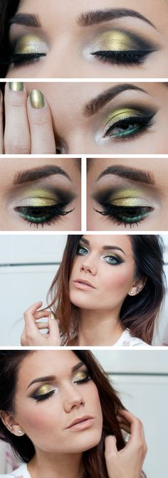 Smoky green eyes