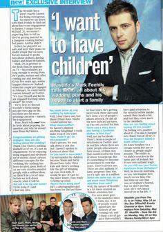 Mark Feehily, Shane Filan, I Want Him, Albums, Musicians, Singer, Children, Boys, Happy
