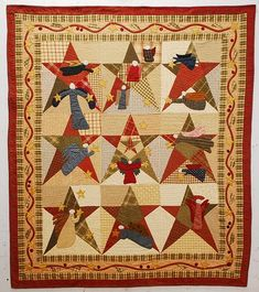 Hark!  I love this quilt.  I'm making it in soft blues with cranberry angels.  Finished the top, now to the applique.