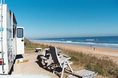 Flagler-by-the-Sea Campground is one of the most conveniently located beachside campgrounds in Flagler Beach, Florida, in Palm Coast. It's near food trucks, a pub and a store along the scenic stretch of A1A.