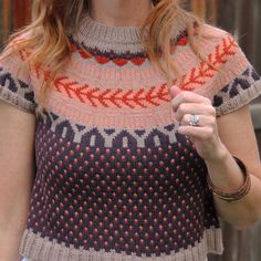Today's is this stunning by Because isn't it lovely? Pattern by yarn by and purchased from Hand Knitting, Knitting Patterns, Hand Knitted Sweaters, Polka Dot Top, Lana, Knits, Knitwear, Indie, Crafts