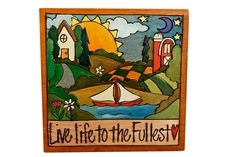 "Sticks Furniture 7"" hand painted plaque.  Available at Good Goods in Saugatuck, Michigan."