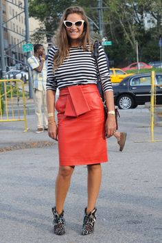 #NYFW day 5: Everyone's wearing tomato red