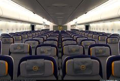 brand new Lufthansa Airbus Economy Class cabin airbus interior Airbus A380 Inside, Jets, German Airlines, Luxury Houseboats, Private Jet Interior, Aircraft Interiors, Airline Logo, Aviation Industry, Cabin Interiors