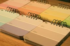 Paint chip note books