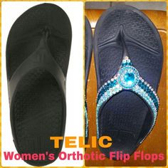 b0045c07c287 What a difference some bling makes. TELIC ORTHOTIC FLIP FLOPS