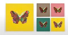 Papillon, 80 cm x 80 cm, édition limitée de Parris Wakefield Studio | made.com