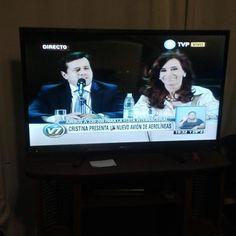 Acto en Ezeiza de @cfkargentina y #MarianoRecalde