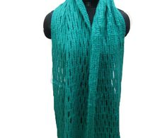 Knitted scarf/knit scarf/ scarf/ muffler/ unisex scarf/ teal