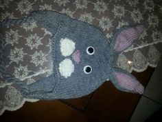 knitted animal hat rabbit