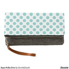Aqua Polka Dots Clutch Bag   Available on many products! Hit the 'available on' tab near the product description to see them all! Thanks for looking!     @zazzle #art #polka #dots #shop #chic #modern #style #circle #round #fun #neat #cool #buy #sale #shopping #men #women #sweet #awesome #look #accent #fashion #clothes #apparel #tote #bag #accessories #accessory #compact #mirror #hand #purse #clutch #cosmetic #makeup #messenger #bicycle #aqua #blue #light #dark #white