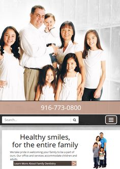 Woodcreek Dentistry in #Roseville | #ResponsiveWebsite #DentalWebsite
