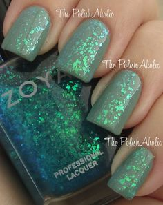 The PolishAholic: Zoya Spring 2012 Fleck Effect Collection Here it is! So it looks like they used OPI as the base and then this polish over it for the beautiful color. However, I wonder if this is even for sale?