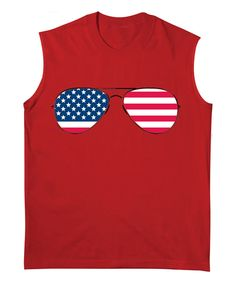 Look at this Festuvius Red Patriotic Sunglasses Tank - Toddler & Boys on #zulily today!