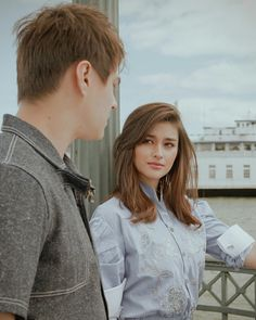 The way she looks at him though Prenuptial Photoshoot, Lisa Soberano, Filipino Girl, Enrique Gil, Cut And Color, American Actress, Brown Hair, Asian Beauty, Makeup Looks