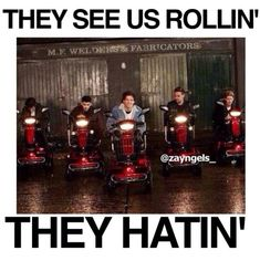 They see us rollin'... they hatin'...