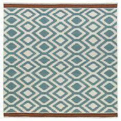 Kaleen Nomad Geometric Turquoise Area Rug Rug Size: Square 8'