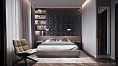 Стена над кроватью в спальне: 44 идеи оформления